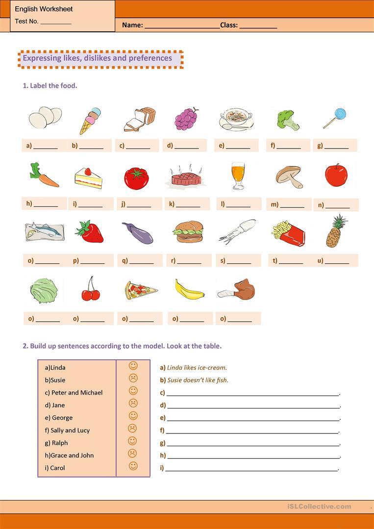 Expressing Likes, Dislikes And Preferences Worksheet - Free Esl | Likes And Dislikes Printable Worksheets