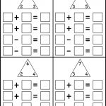 Fact Family   4 Worksheets | Printable Worksheets | Math Worksheets | Rainbow Facts Worksheets Printable