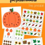 Fall Math Packet For Preschoolers   Free Printable Fall Math Worksheets