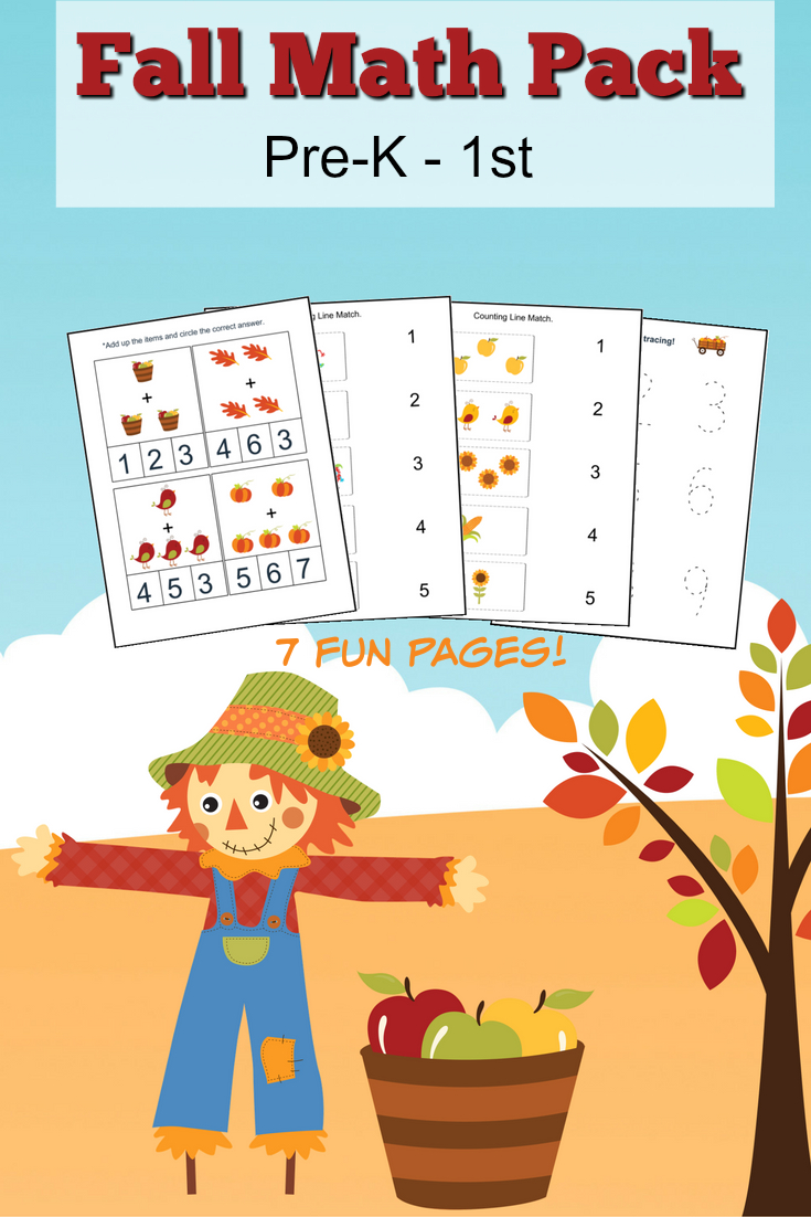 Fall Math Worksheets For Pre-K To 1St Grade - Frugal Mom Eh! | Free Printable Fall Math Worksheets