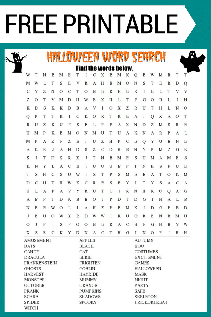 Fall Word Search Free Printable Worksheet | Fall Word Search Printable Worksheets