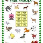 Farm Animals Worksheet   Free Esl Printable Worksheets Madeteachers   Farm Animals Printable Worksheets