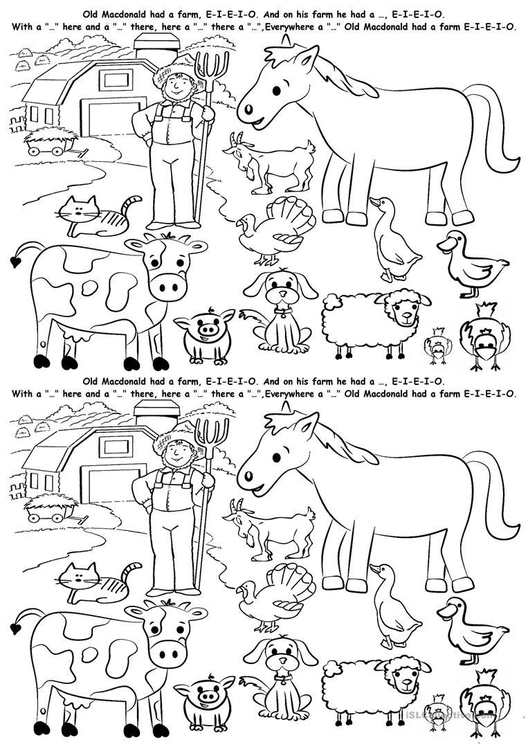 Farm Animals Worksheet - Free Esl Printable Worksheets Madeteachers | Farm Animals Printable Worksheets