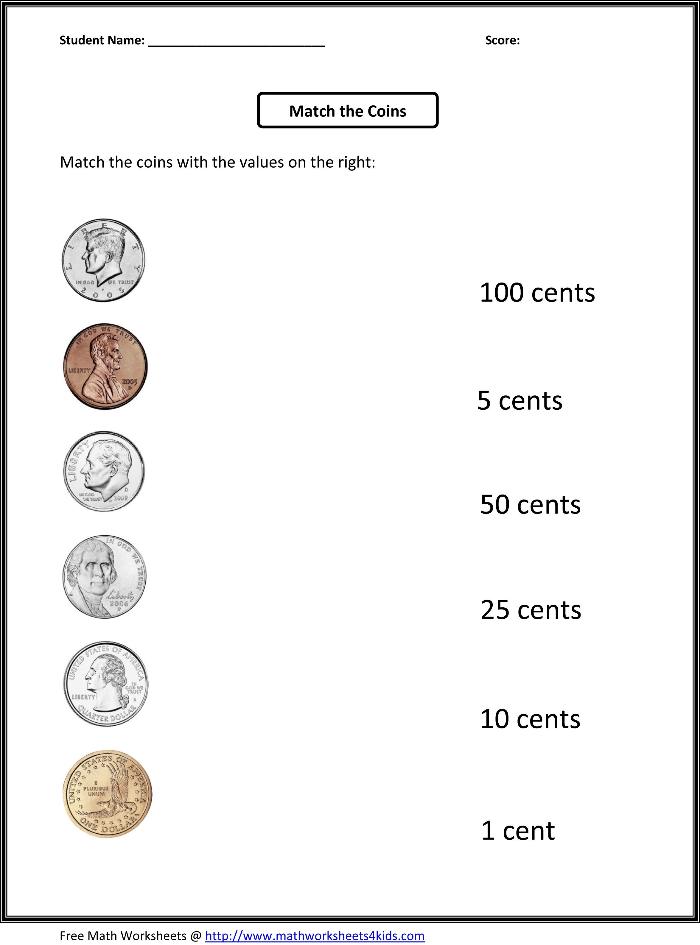 First Grade Money Worksheets Free Printable   Education (For The   Free Printable Money Worksheets For 1St Grade