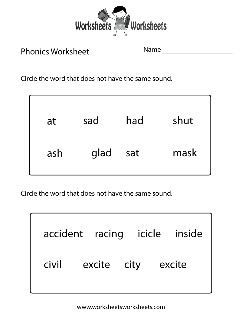 First Grade Phonics Worksheet Printable. The Bottom Part Is Advanced | Free Printable Digraph Worksheets For First Grade