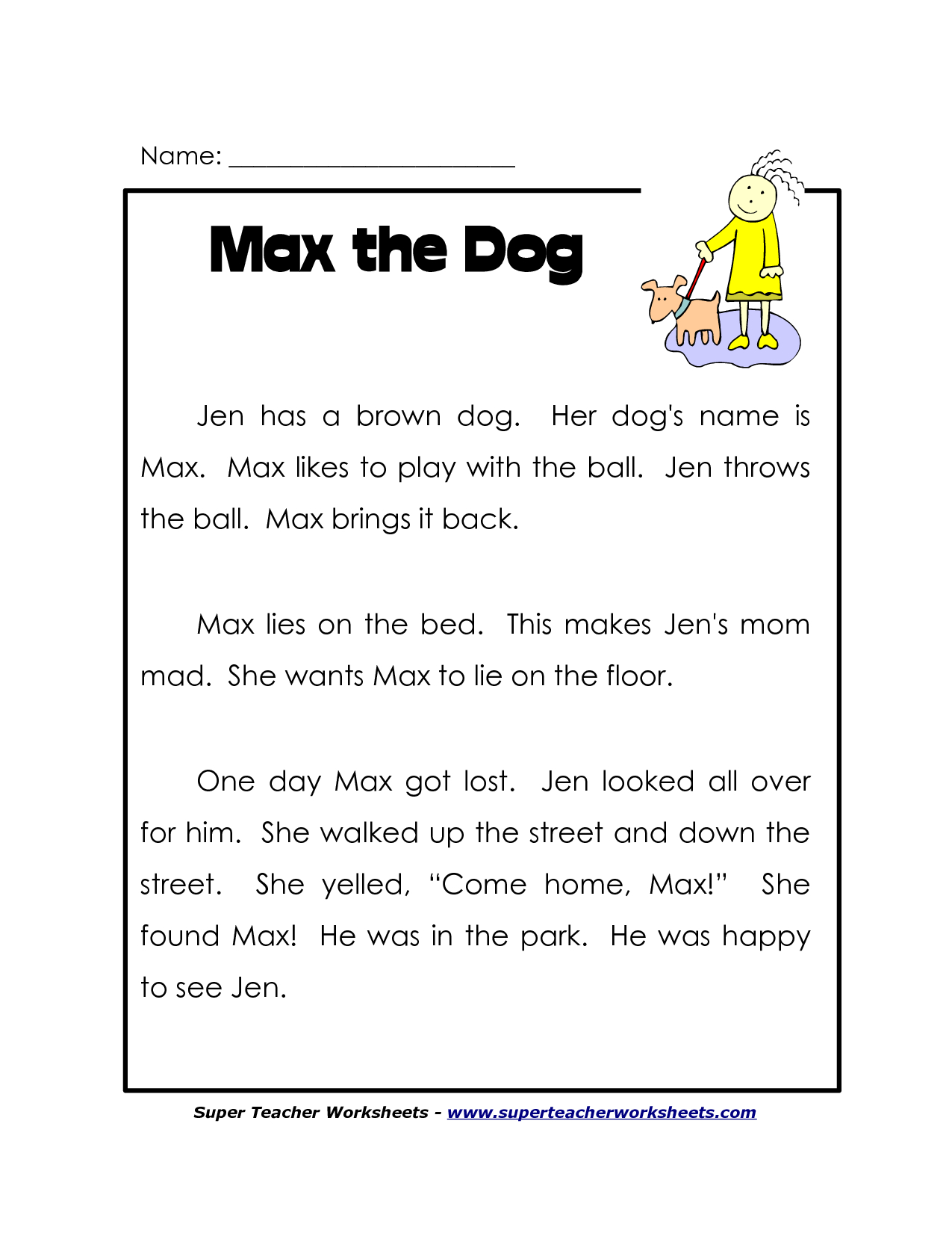 First Grade Printable Reading Worksheets | First Grade Printable | Printable Reading Worksheets For 1St Grade