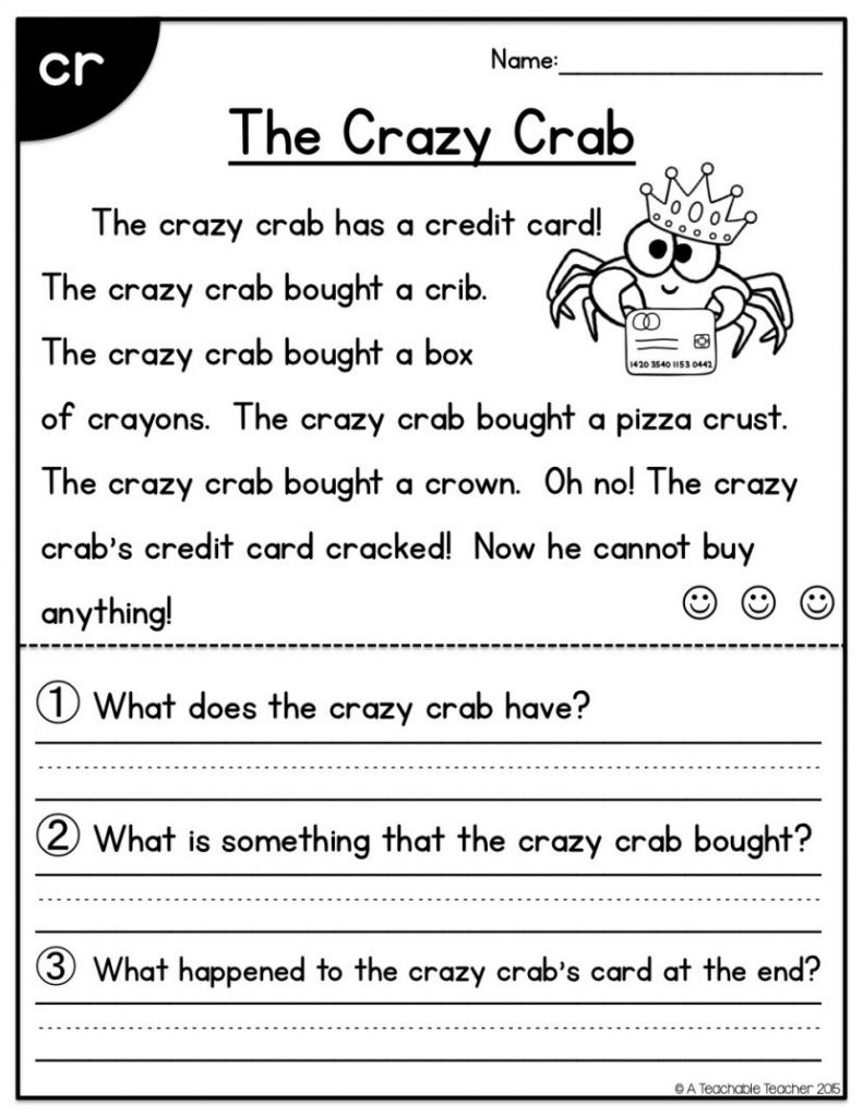 First Grade Reading Worksheets Free Report Templates Math And 1St   Free Printable Reading Worksheets For 1St Grade