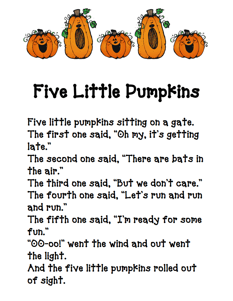 Five Little Pumpkins.pdf - Google Drive | Nursery Rhymes | Five | Five Little Pumpkins Printable Worksheet