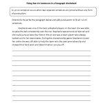 Fixing Paragraphs With Run On Sentences Worksheets | Englishlinx | Free Printable Worksheets On Run On Sentences