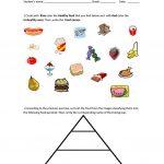 Food Pyramid   Healthy And Unhealthy Food. Worksheet   Free Esl   Free Printable Healthy Eating Worksheets