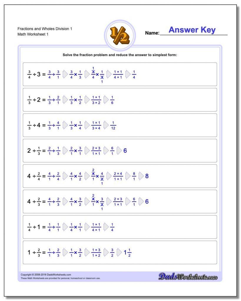 Fraction Division | Fraction Worksheets 6Th Grade ...