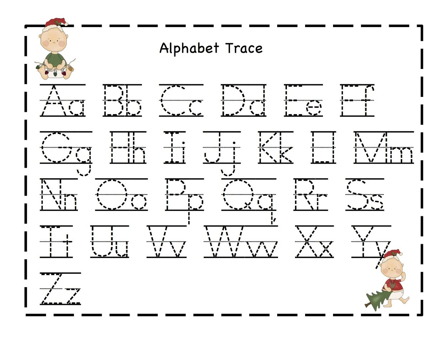 Free Alphabet Worksheets For The Beginners | Kiddo Shelter | Free Printable Abc Worksheets