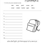 Free Back To School Worksheets And Printouts | Free Student Worksheets Printables