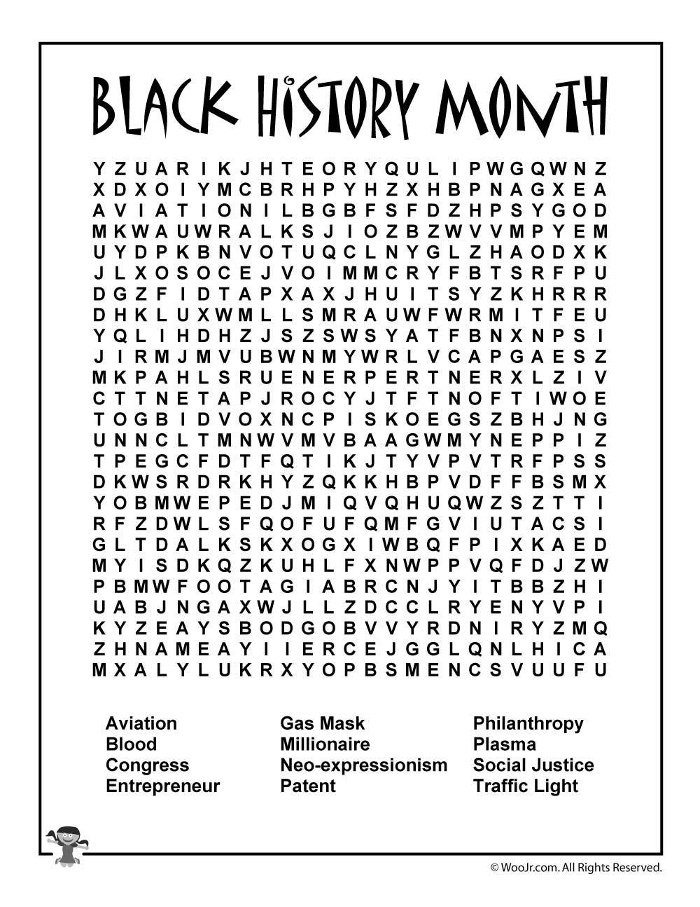 Free Black History Month Worksheet + A Reading List | Internship | Black History Month Free Printable Worksheets