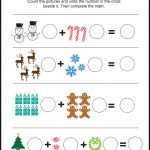 Free Christmas Themed Picture Math Worksheet   Love Note Printables | Free Printable Christmas Math Worksheets Kindergarten