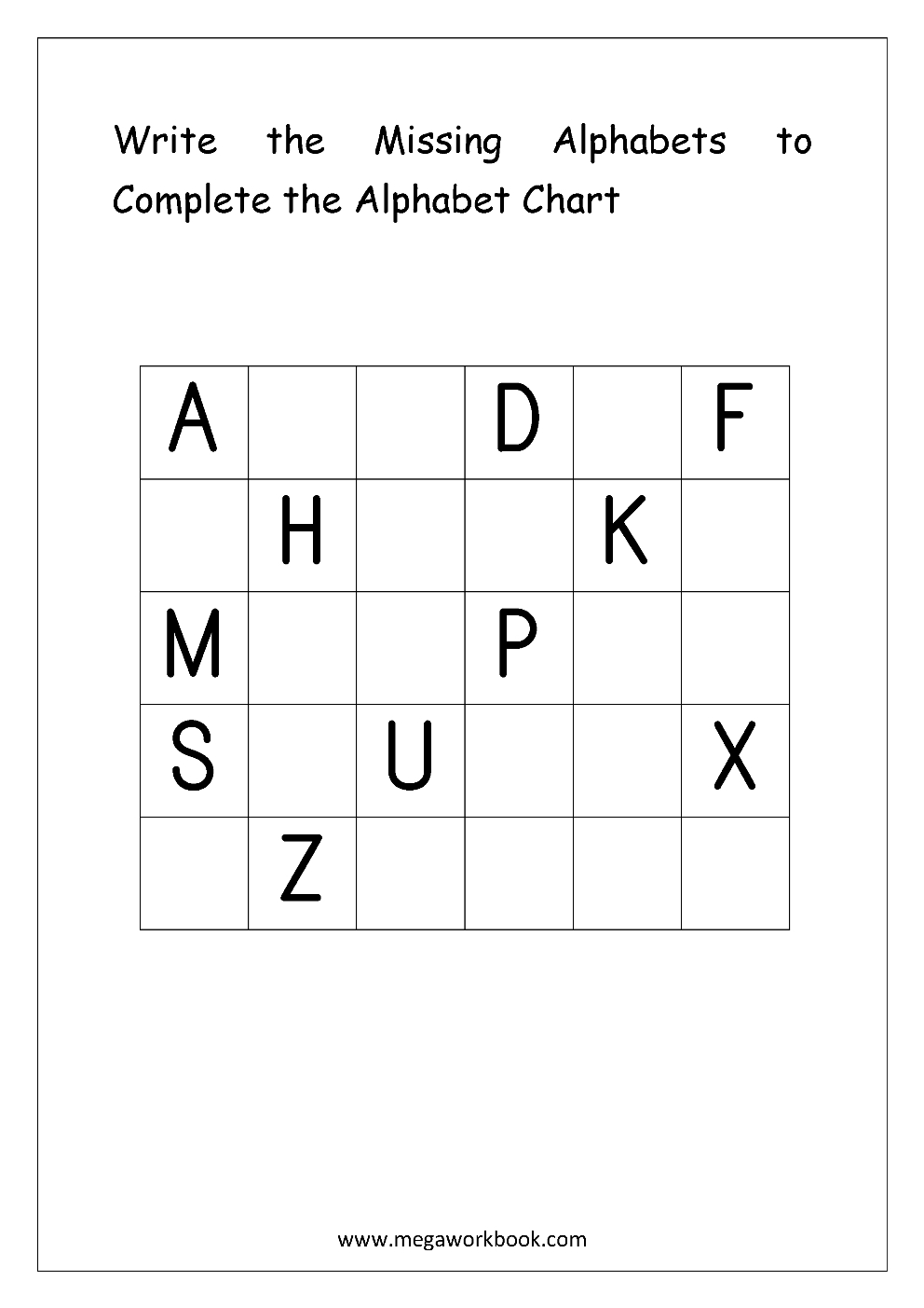 Free English Worksheets - Alphabetical Sequence - Alphabetical Order | Fill In The Missing Letters In Words Printable Worksheets