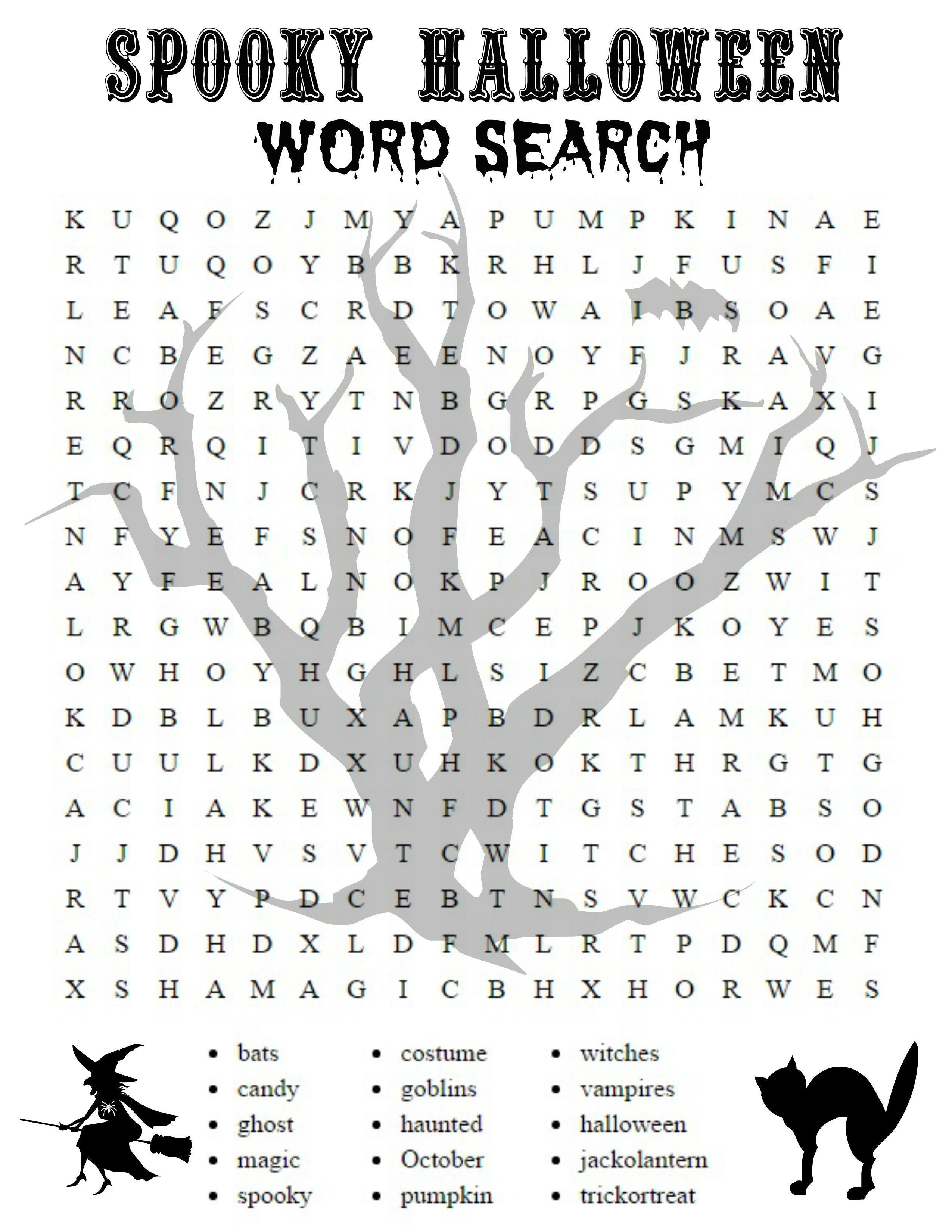 Free Halloween Printable Activities Halloween Word Search - Free | Free Printable French Halloween Worksheets