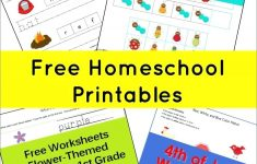Homeschool Printable Worksheets Kindergarten