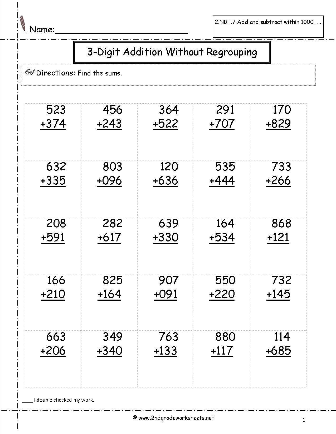 Free Math Worksheets And Printouts | Arithmetic Worksheets Printable