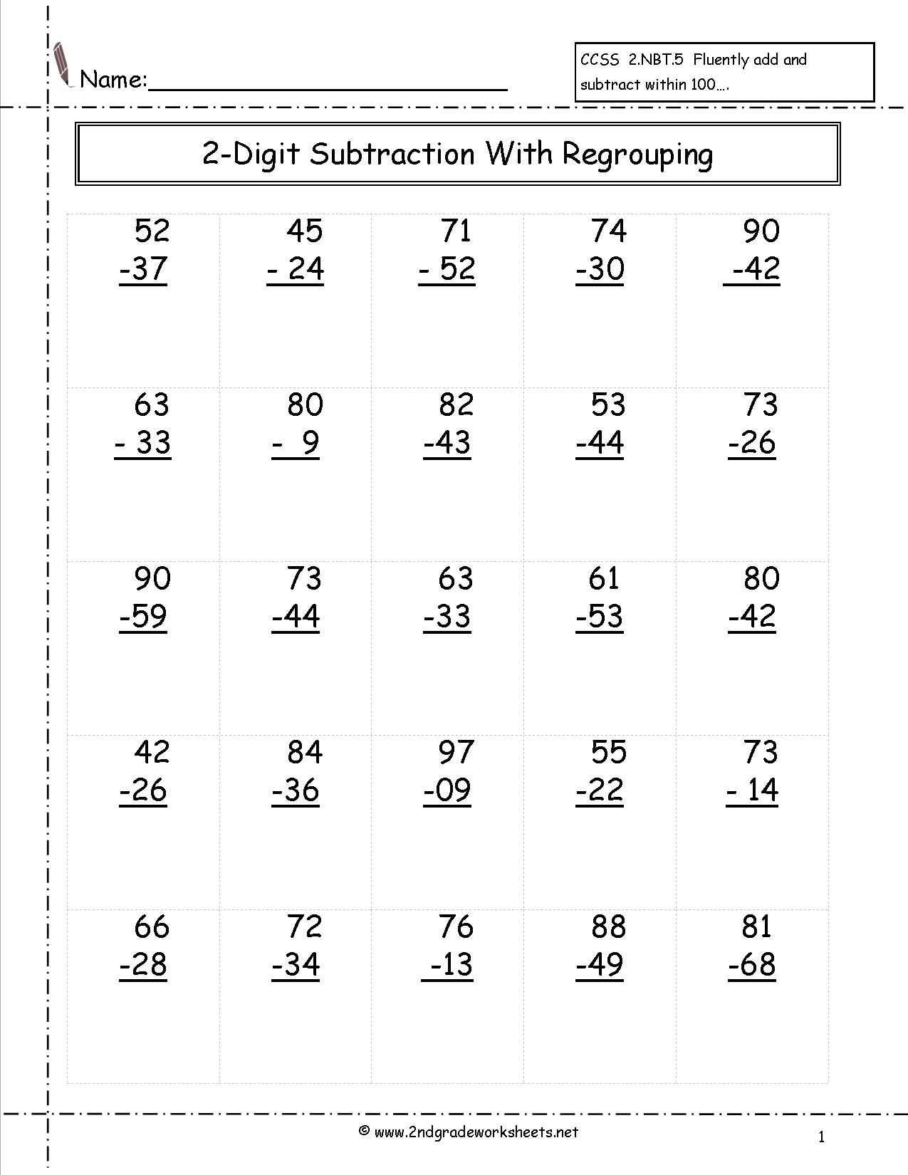Free Math Worksheets And Printouts | Free Printable Addition And Subtraction Worksheets