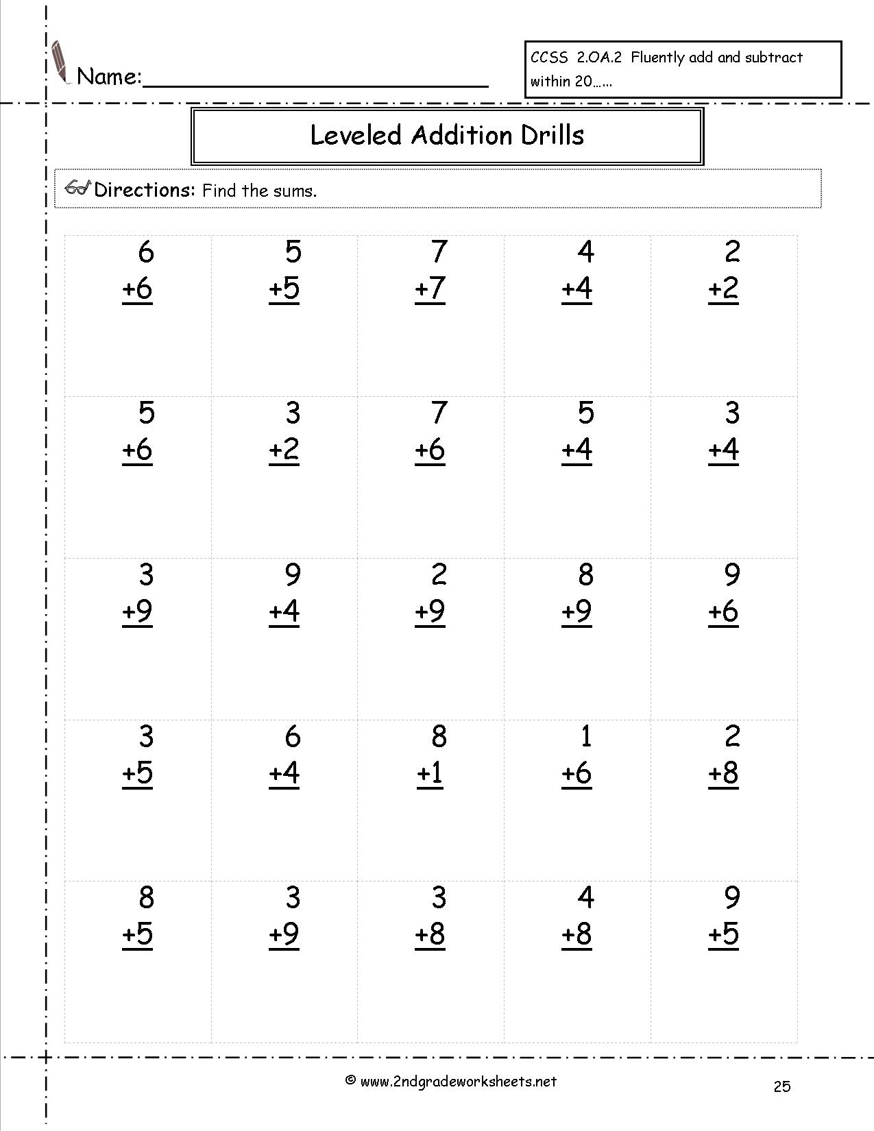 Free Math Worksheets And Printouts | Free Printable Addition Worksheets