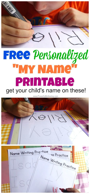 Free Name Tracing Worksheet Printable + Font Choices | Classroom | Free Printable Name Tracing Worksheets For Preschoolers