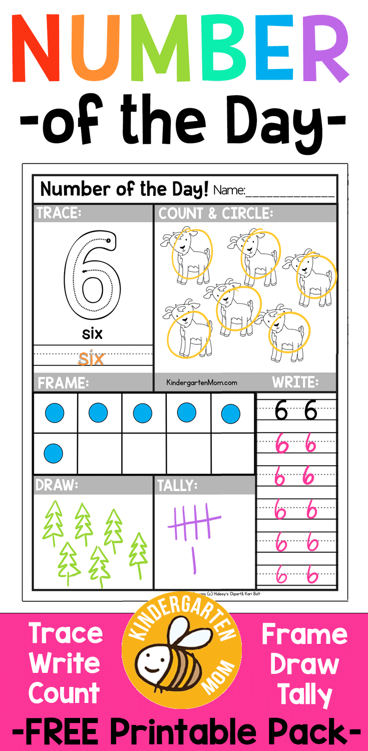 Free Number Of The Day Worksheets!! Free Printable Number Of The Day | Free Printable Number Of The Day Worksheets