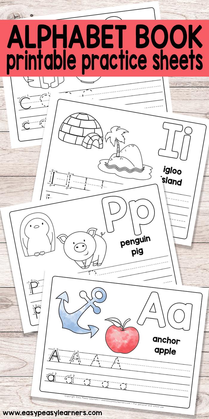 Free Printable Alphabet Book - Alphabet Worksheets For Pre-K And K | Free Printable Letter Worksheets