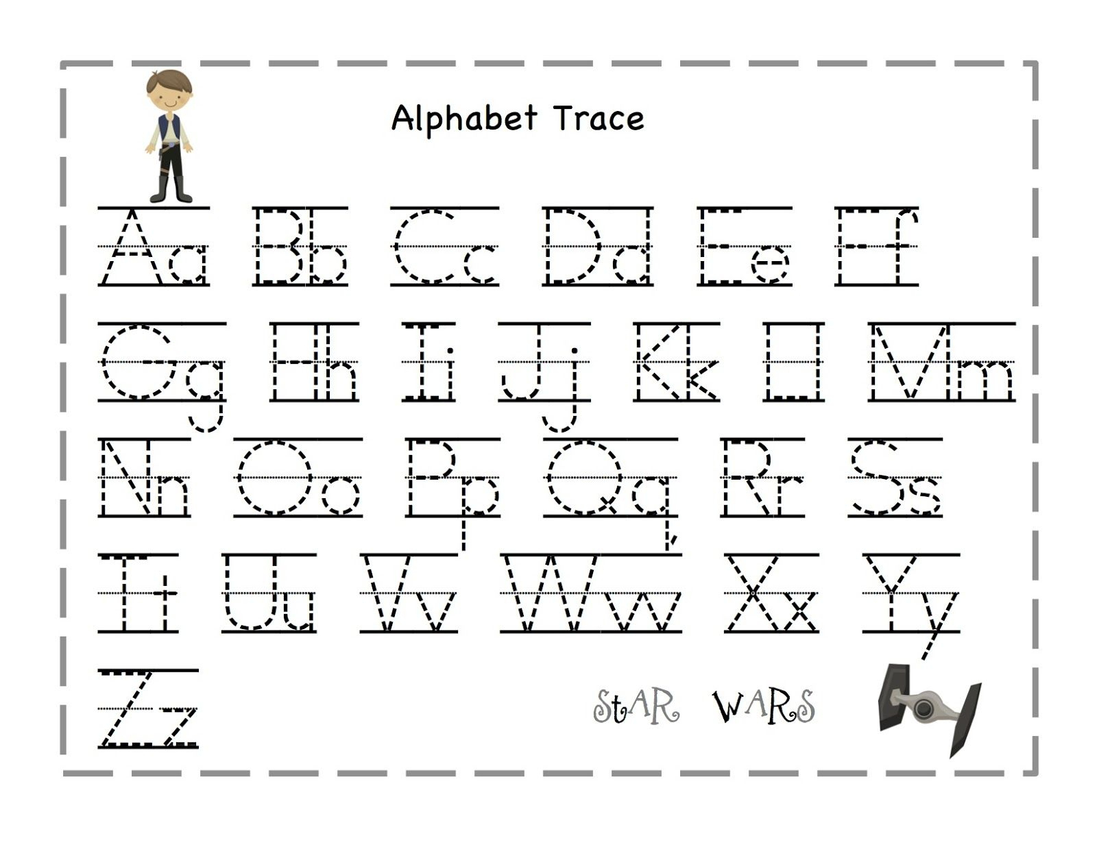 Free Printable Alphabet Letter Tracing Worksheets | Angeline - Free | Free Printable Abc Tracing Worksheets
