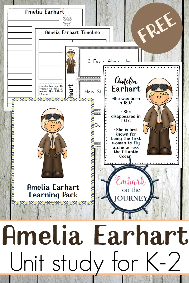 Free Printable Amelia Earhart Unit Study - Money Saving Mom® : Money | Amelia Earhart Free Worksheets Printable