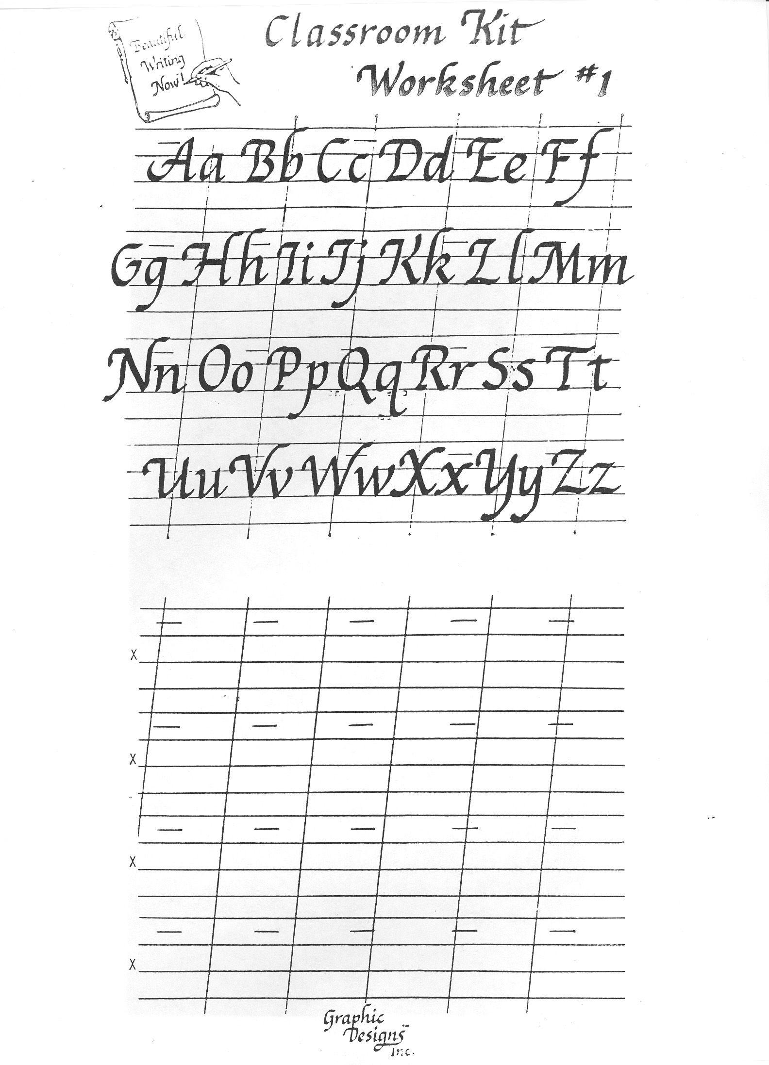 Free Printable Calligraphy Alphabet Practice Sheets | Scrapbooking | Free Printable Calligraphy Worksheets