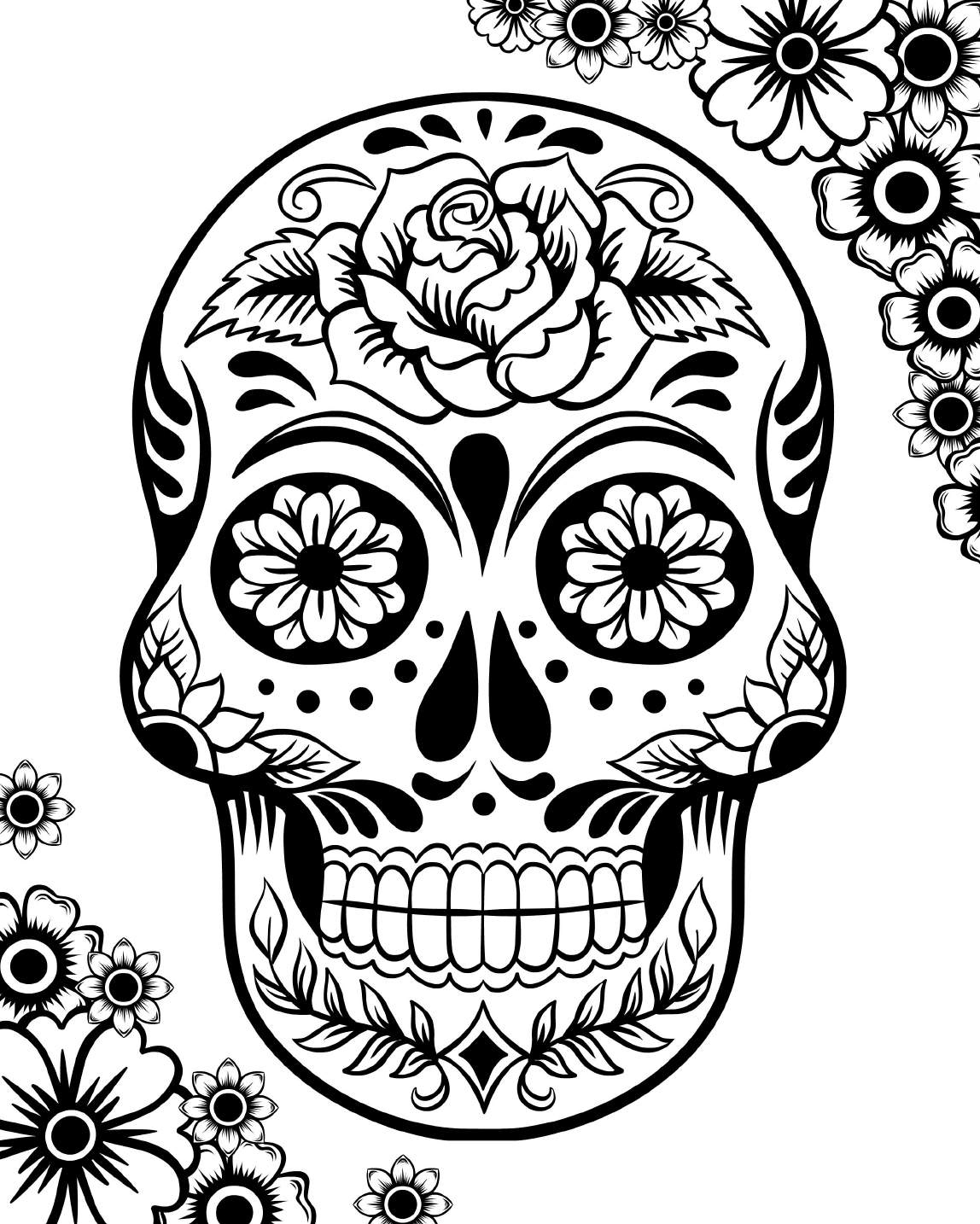 Free Printable Day Of The Dead Coloring Pages - Best Coloring Pages | Free Printable Day Of The Dead Worksheets