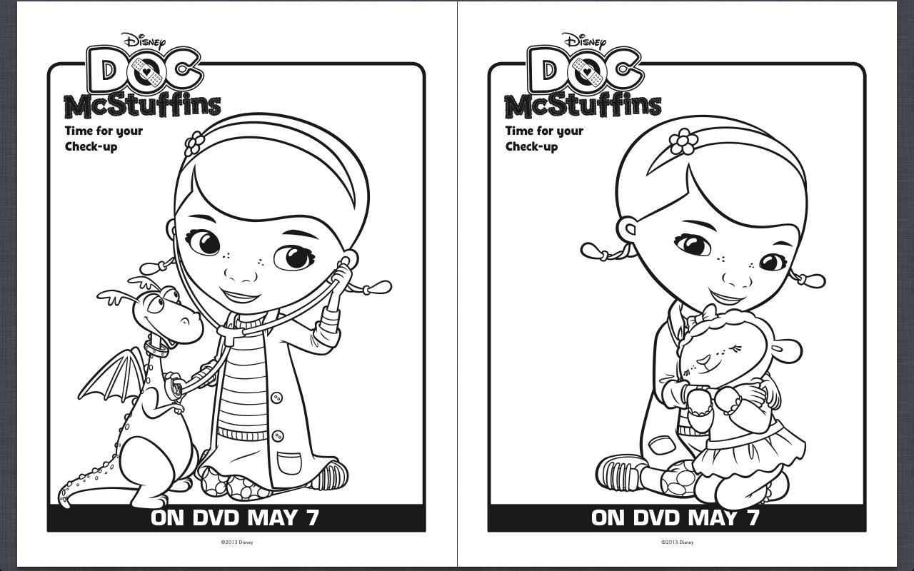 Free Printable Doc Mcstuffins Coloring Pages - Classy Mommy   Doc Mcstuffins Printable Worksheets