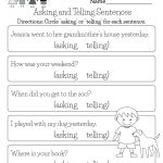 Free Printable English Comprehension Worksheet For Kindergarten | Printable English Worksheets