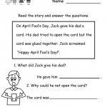 Free Printable English Reading Worksheets For Kindergarten   Free   Free Printable English Reading Worksheets For Kindergarten