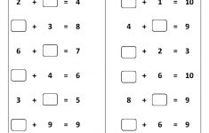 Printable Math Worksheets For Grade 1
