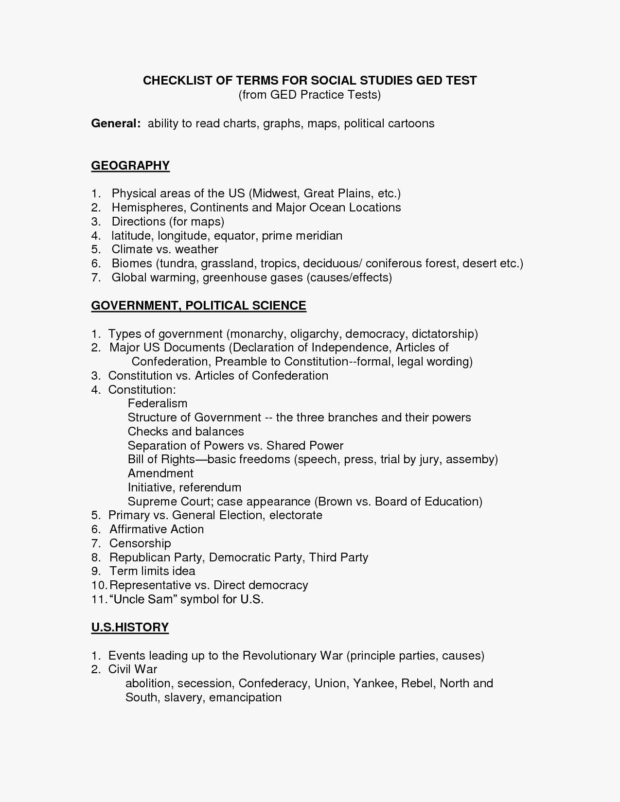 Free Printable Ged Math Worksheets Ged Tasc Class - Classy World | Free Printable Ged Science Worksheets