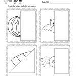 Free Printable Halloween Drawing Activity Worksheet For Kindergarten | Free Printable Drawing Worksheets