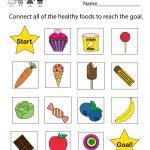 Free Printable Health Education Worksheet For Kindergarten   Free Printable Healthy Eating Worksheets