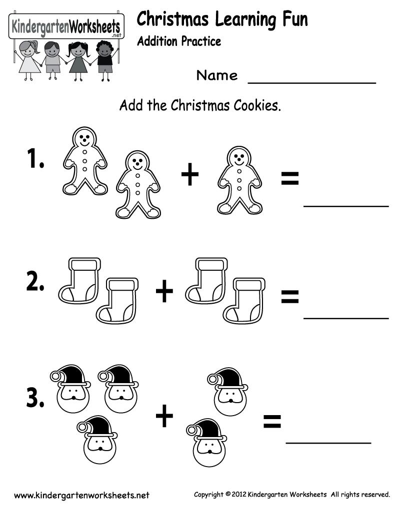 Free Printable Holiday Worksheets   Free Christmas Cookies Worksheet   Christmas Worksheets Printables For Kindergarten