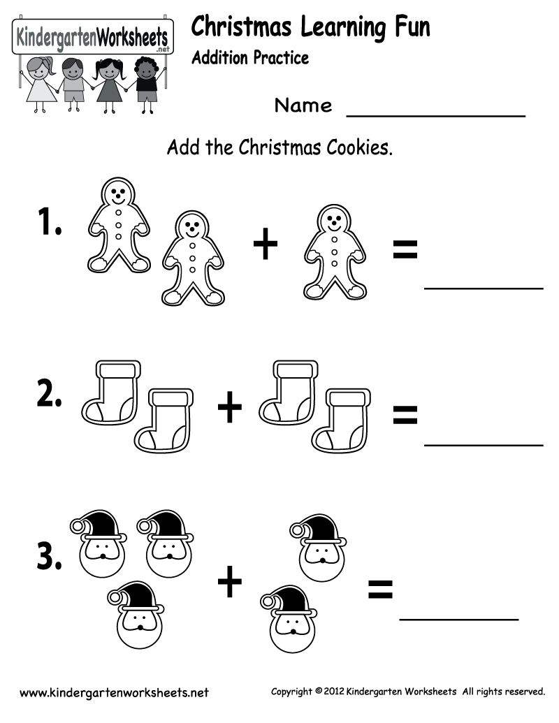 Free Printable Holiday Worksheets | Free Christmas Cookies Worksheet | Free Printable Christmas Math Worksheets Kindergarten
