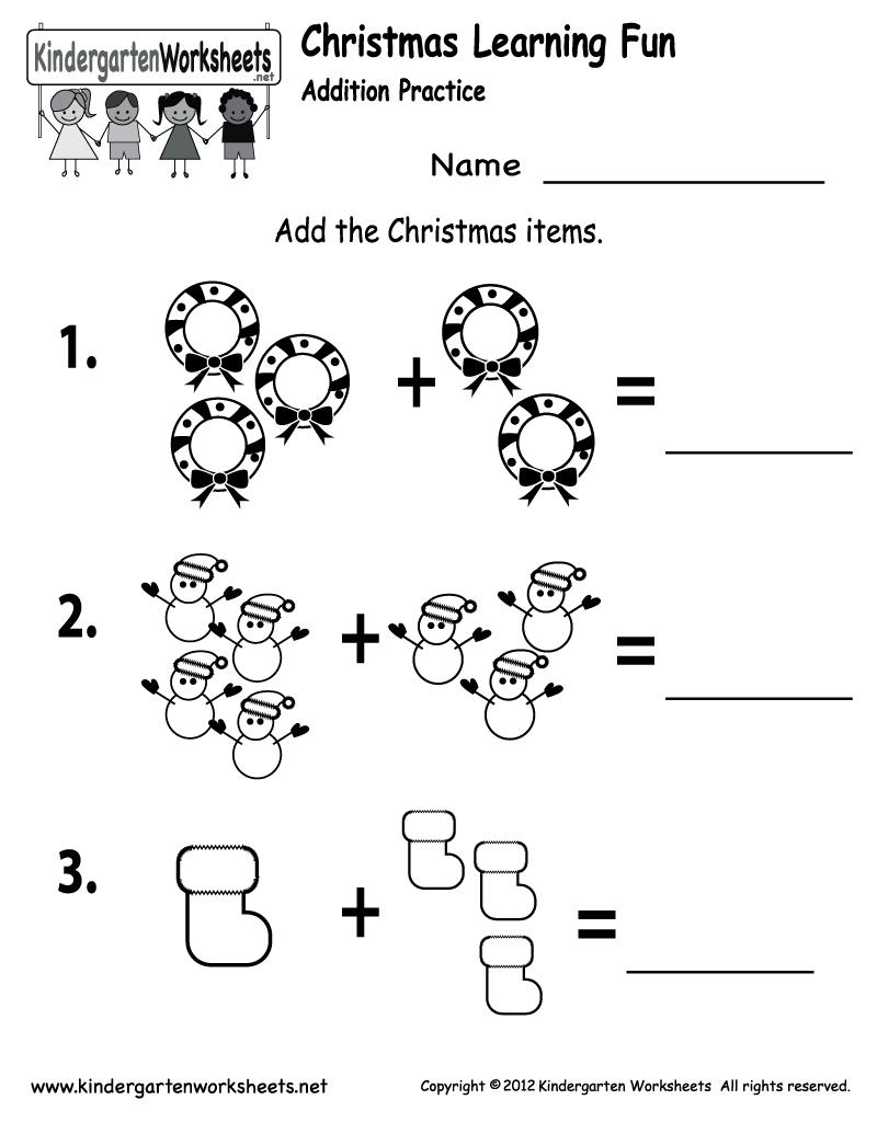 Free Printable Holiday Worksheets   Free Printable Kindergarten   Christmas Worksheets Printables For Kindergarten