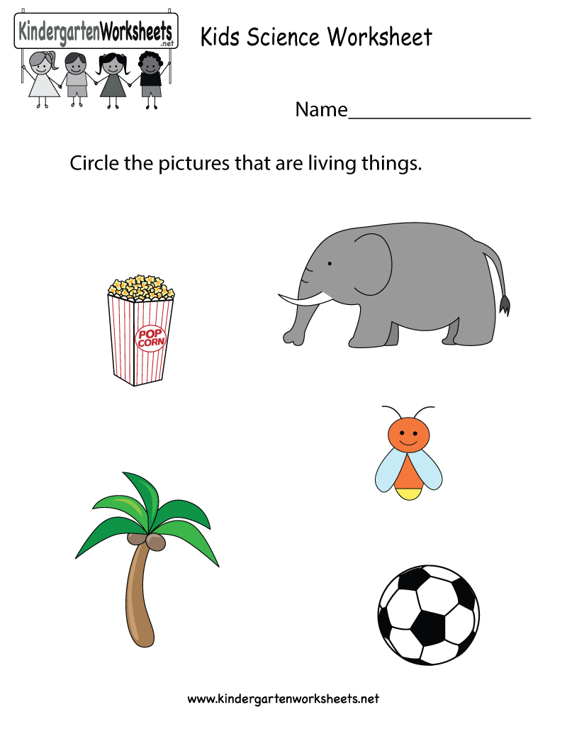 Free Printable Kids Science Worksheet For Kindergarten | Kindergarten Science Worksheets Printable