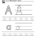 Free Printable Letter A Alphabet Learning Worksheet For Preschool | Printable Worksheets For Preschoolers The Alphabets