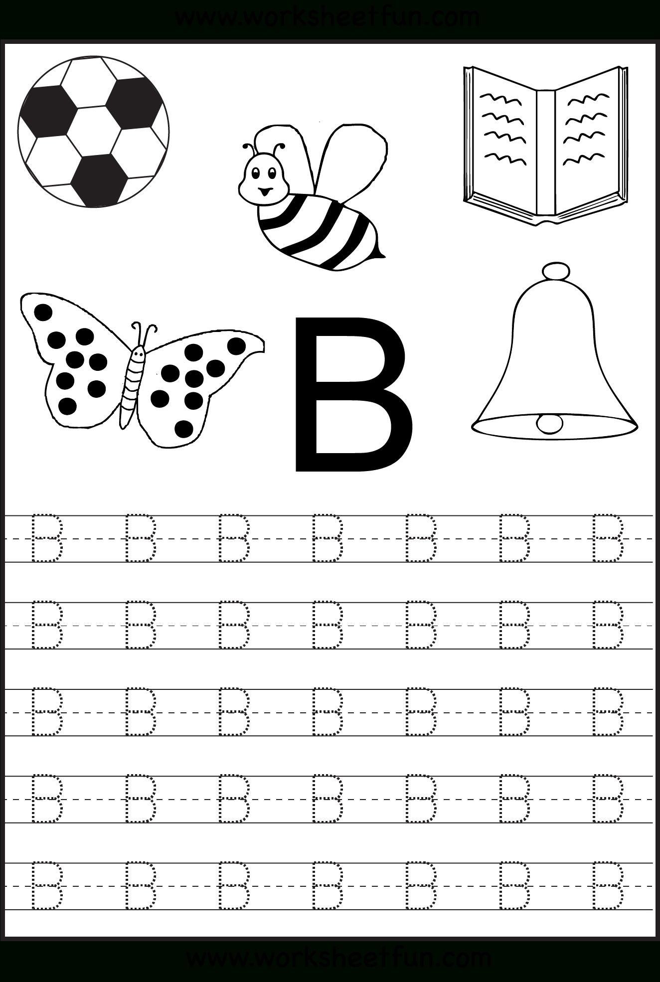 Free Printable Letter Tracing Worksheets For Kindergarten – 26 | Free Printable Tracing Letters And Numbers Worksheets