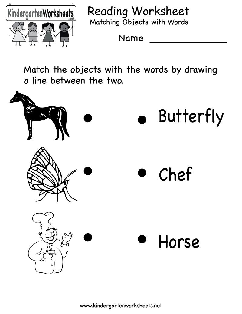 Free Printable Letter Worksheets Kindergarteners | Reading Worksheet | Free Printable English Reading Worksheets For Kindergarten