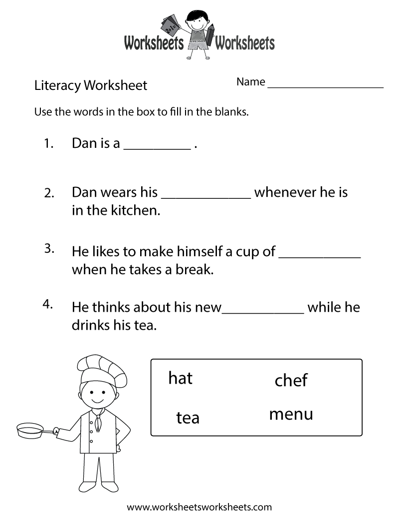 Free Printable Literacy Worksheets For Adults | Free Printables | Comprehension Worksheets Ks1 Printable