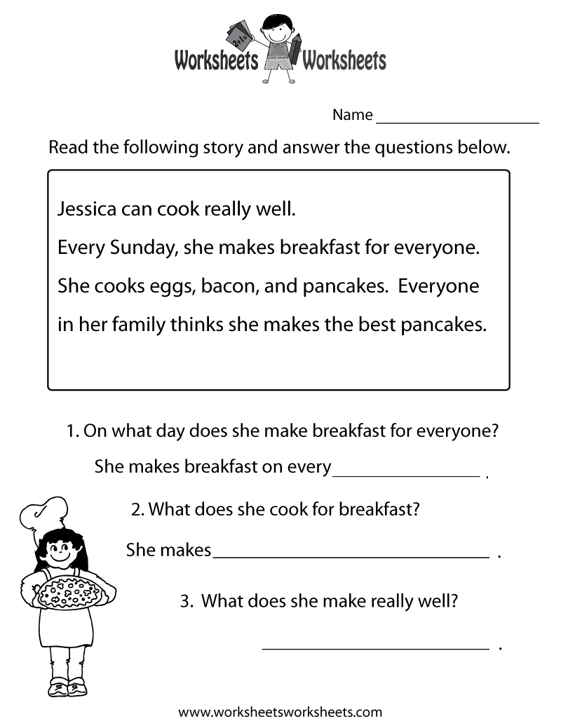 Free Printable Literacy Worksheets For Adults | Free Printables | Free Printable Comprehension Worksheets Ks1