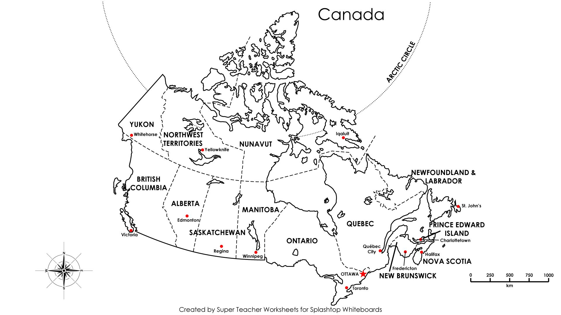 Free Printable Map Canada Provinces Capitals - Google Search | Free Printable Map Of Canada Worksheet