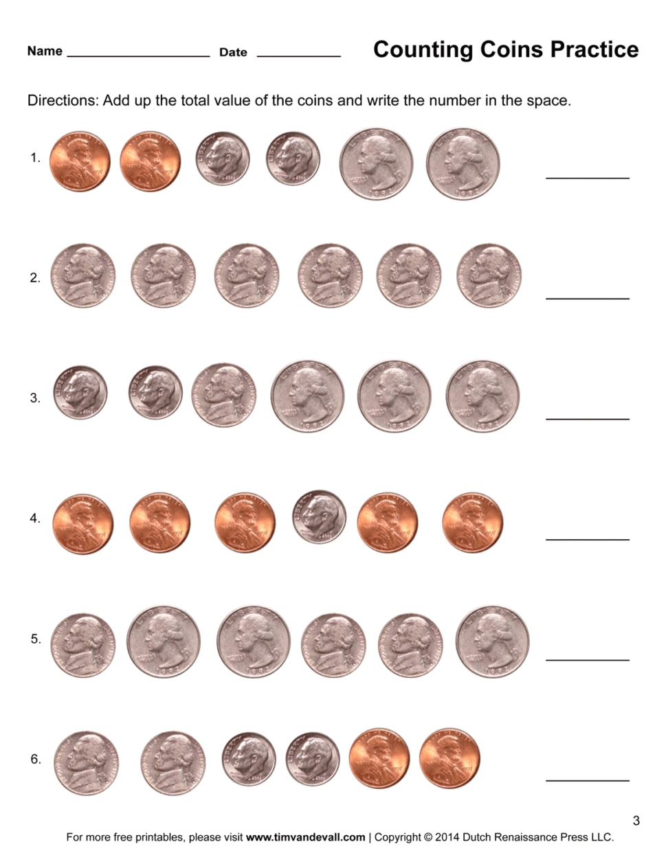 Free Printable Money Worksheets For 1St Grade   Free Printables   Free Printable Money Worksheets For 1St Grade